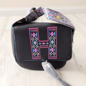JUSTICE Mini Purse Black Aztec New